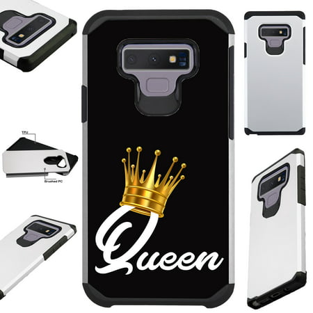 For Samsung Galaxy Note 9 Case Hybrid TPU Fusion Phone Cover (Queen Crown) ()