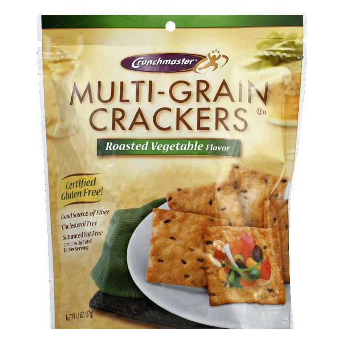 Crunchmaster Mutli-Grain Roasted Vegetable Crackers, 4.5 OZ (Pack of 12)