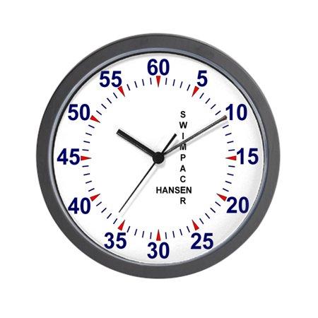 "CafePress - Swim Pace Clock - Unique Decorative 10"" Wall Clock"
