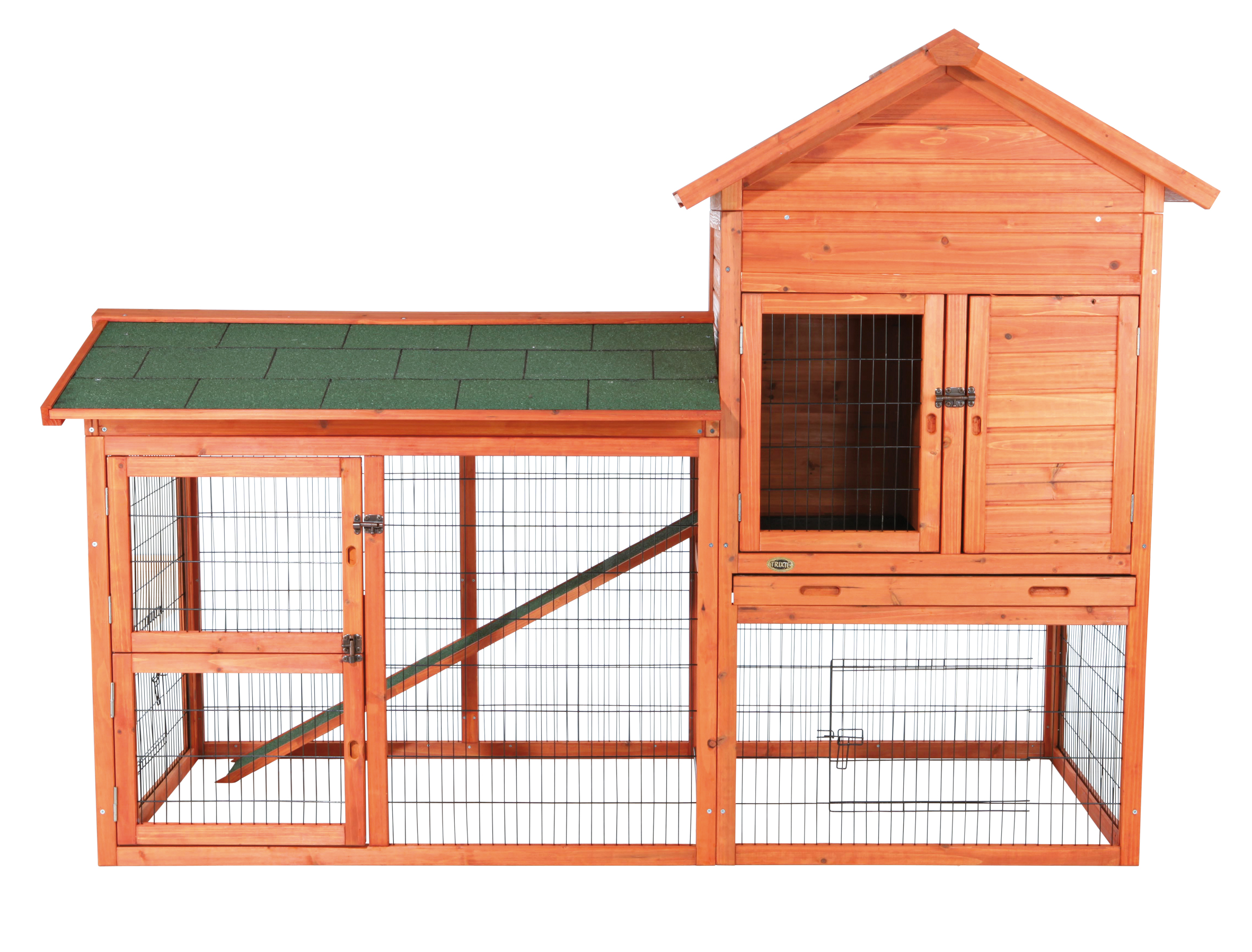 Trixie Pet Rabbit Hutch With Outdoor Run Large