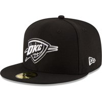 Oklahoma City Thunder New Era Black & White Logo 59FIFTY Fitted Hat - Black