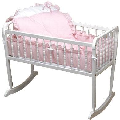 Pretty Pique Cradle Bedding -