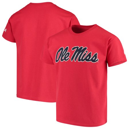 - Ole Miss Rebels Russell Youth Oversized Graphic Crew Neck T-Shirt - Red