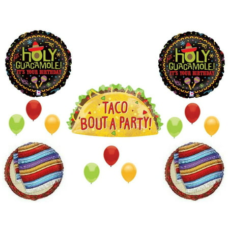 Taco Bout A Party Birthday Party Balloons Decorations Two Fiesta Guacamole](Taco Party Decorations)