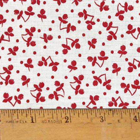 Cherry Pie Farm Cloth Feedsack Print Homespun Cotton Fabric Sold by the Yard - JCS Fabric ()