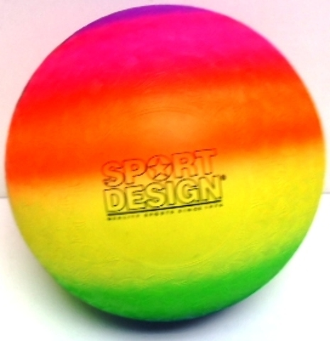 "Neon 9"""" Rainbow Playground Kickball Case Pack 36"