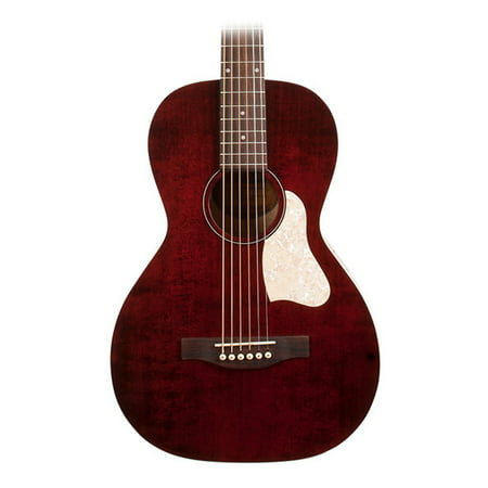 Parlor Acoustic Electric Guitar (Art and Lutherie Roadhouse Parlor Tennessee Red Acoustic Electric)