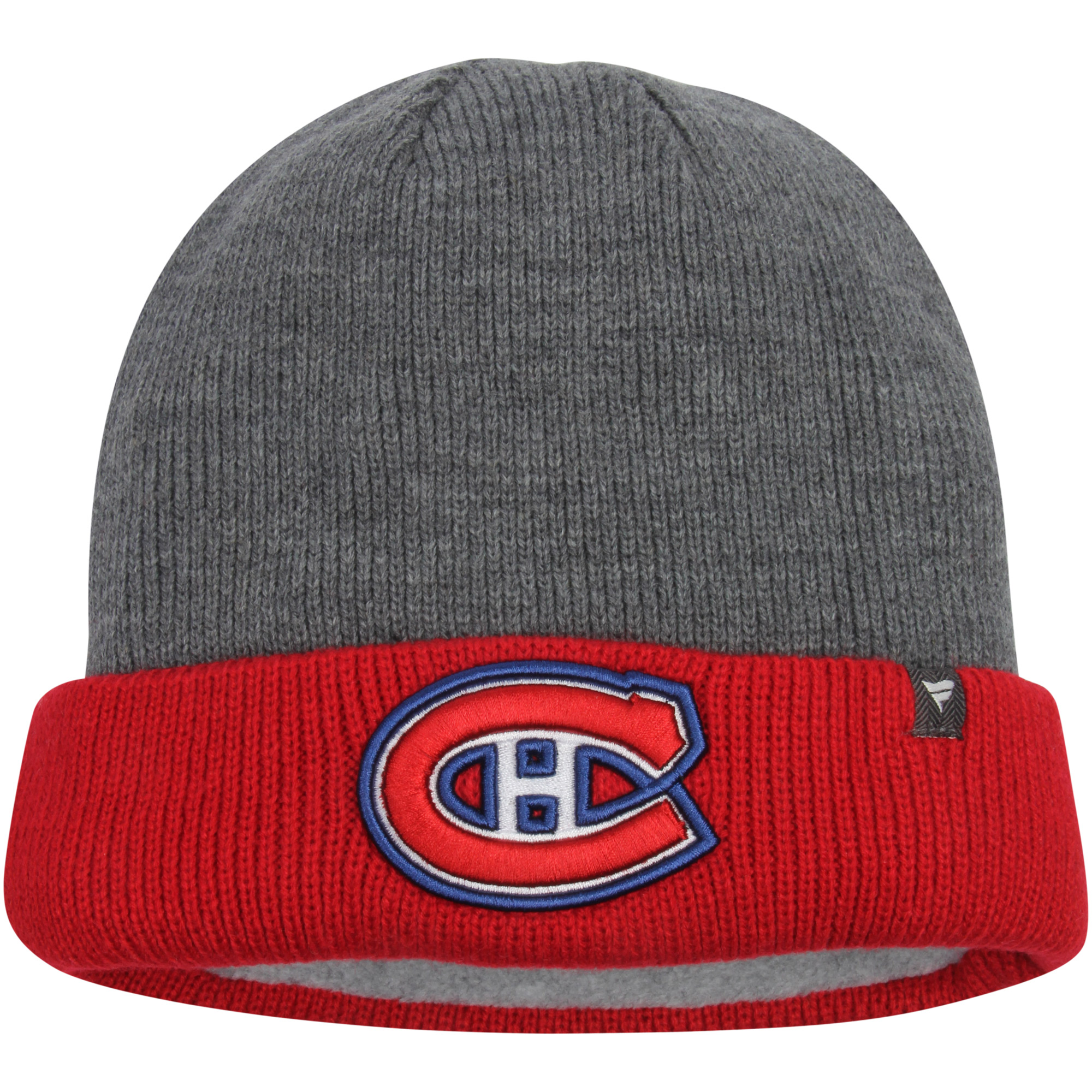 Montreal Canadiens Heavyweight Cuffed Knit Hat - Charcoal/Red - OSFA