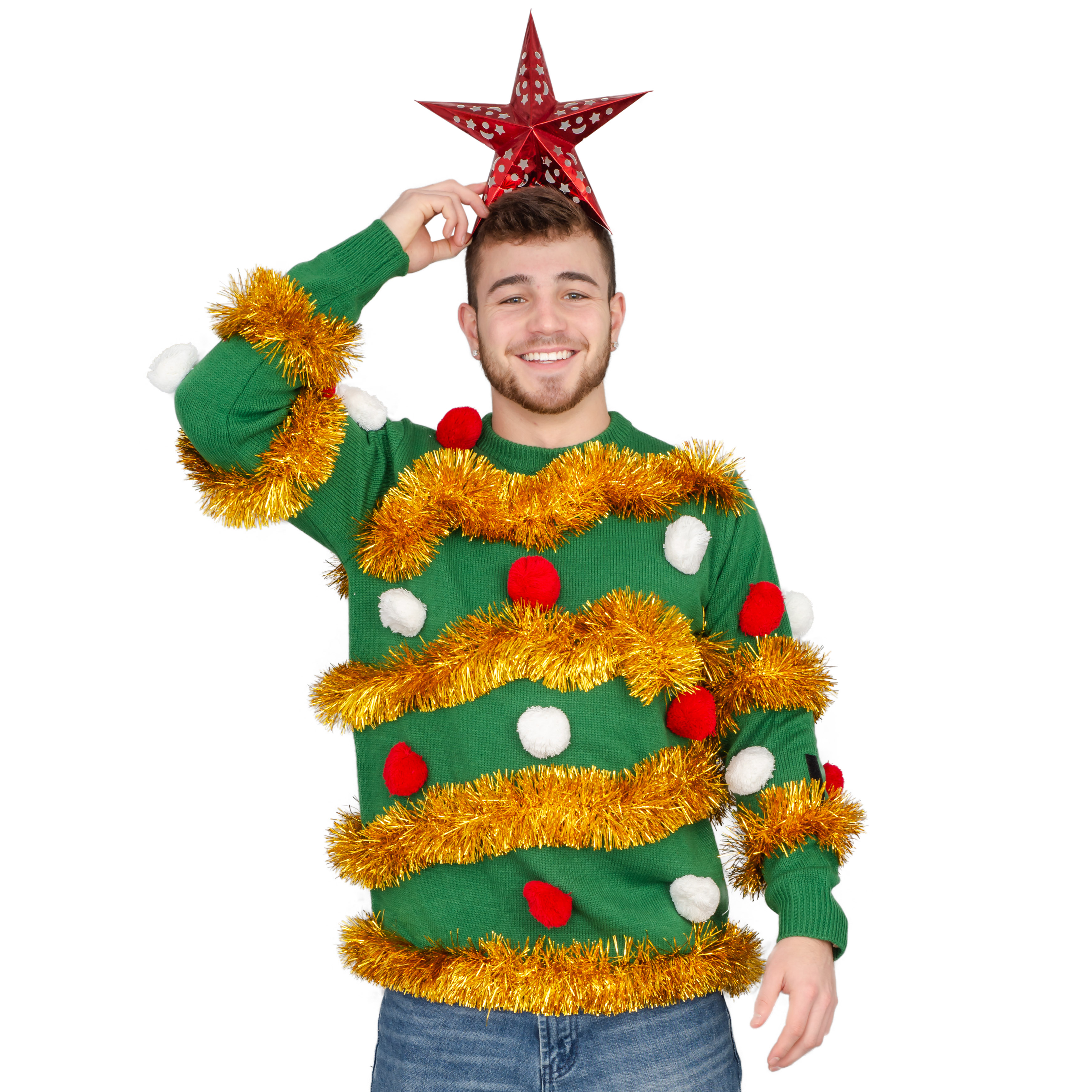 Tinsel Tree Ugly Christmas Sweater