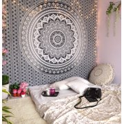 Gray Decorative Mandala Tapestry Boho Indian Wall Hanging College Dorm Tapestries Bohemian Hippie Queen Bedspread Beach Throw Outdoor Picnic Blanket Online