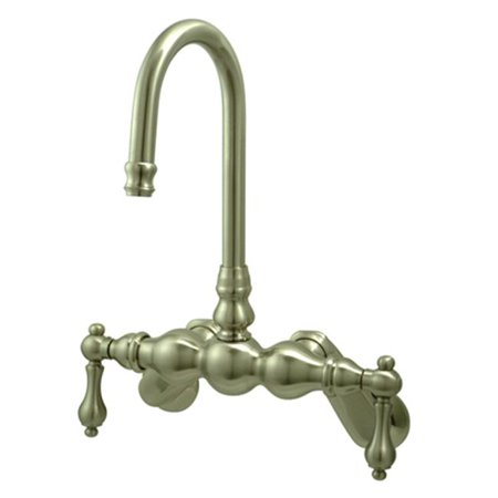 Kingston Brass Cc81T8 Wall Mount Clawfoot Tub Filler - Brushed Nickel Finish - image 2 of 2
