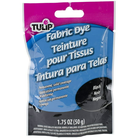 Permanent Fabric Dye- Black, Permanent and fade resistant By Tulip