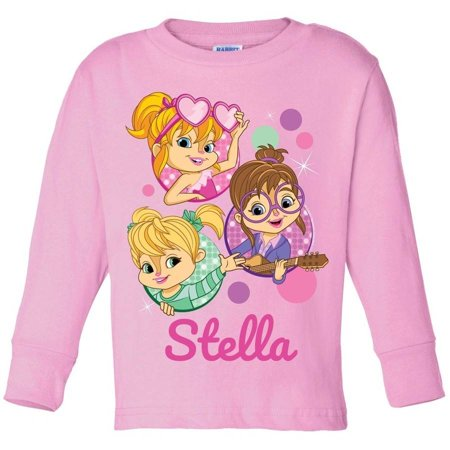 Personalized Alvin and the Chipmunks Toddler Long Sleeve T-Shirt, Pink](Alvin And The Chipmunks Outfits)