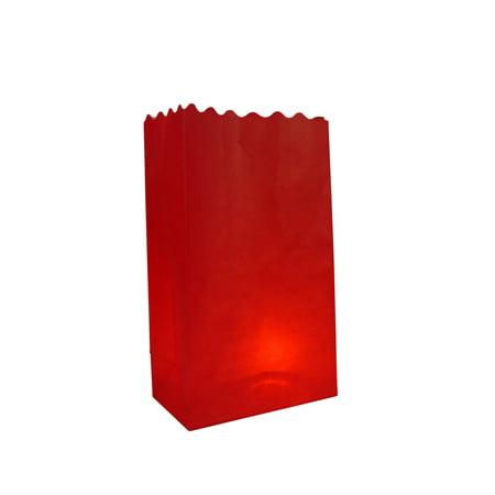 Red Paper Luminary Bags Path Lighting (10 PACK)](Luminary Supplies)