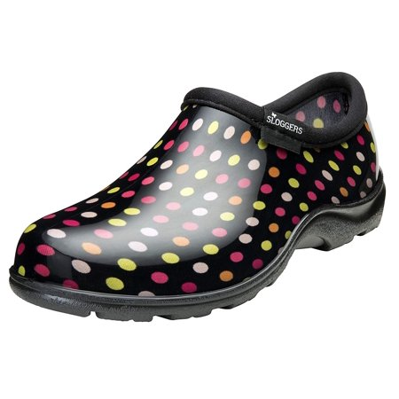 Rubber Gardening Boots - sloggers ppl5117pdm06 womens waterproof comfort shoe, multicolor pin dot - size 6