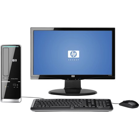 HP Refurbished Black Pavilion Slimline s5603w-b Desktop PC with AMD Sempron 140 Processor, 3GB Memory, 18.5