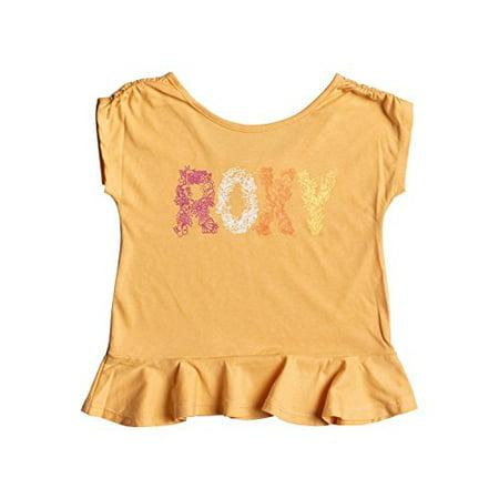 Girl Apricot - Roxy Girls 2-6 Sea Girl T-Shirt (2, Apricot Nectar)