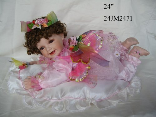J.misa 24 Inch Crawling Fairy Porcelain Doll by JMISA
