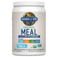 Garden of Life Organic Meal Replacement Powder, Vanilla, 20g Protein, 1.4 Lb