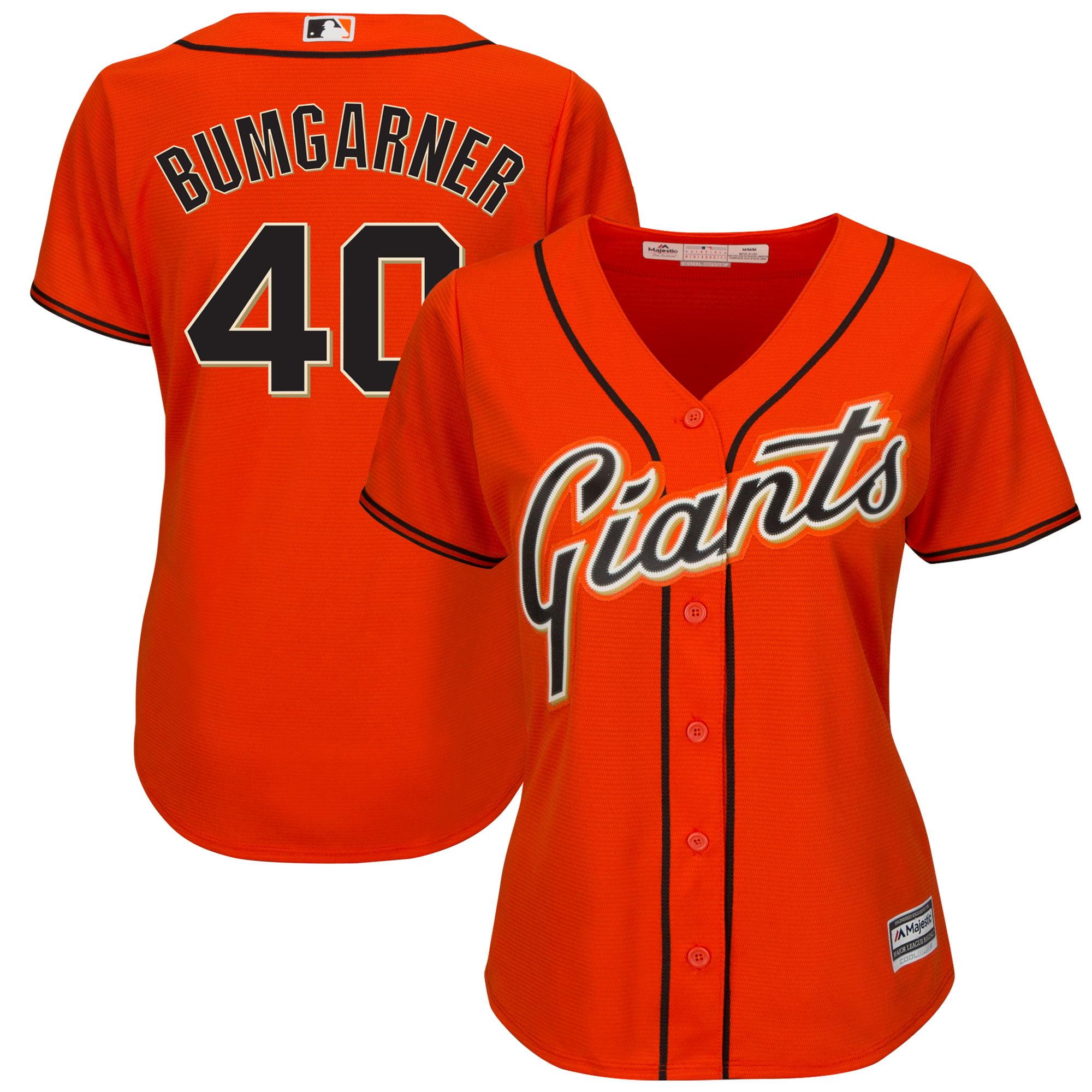 Madison Bumgarner San Francisco Giants Majestic Women's Alternate Cool Base Player Jersey - Orange