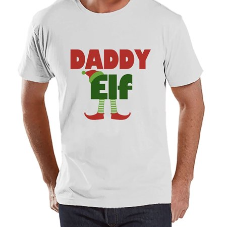 - Custom Party Shop Mens Daddy Elf Christmas T-shirt - Small