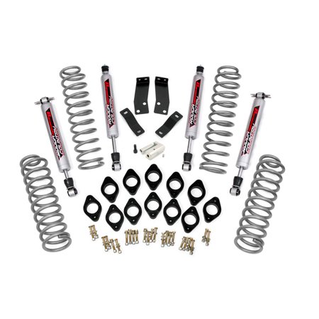 Rough Country   Perf667   3 75 Inch Suspension   Body Lift Combo System W  Performance 2 2 Shocks For Jeep  07 16 Wrangler Unlimited Jk 4Wd 2Wd