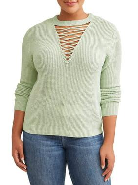 4e565b99a9a4a Women s Plus-Size Cardigans and Sweaters - Walmart.com - Walmart.com