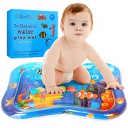 Tummy Time Baby Inflatable Water Mat Sensory Stimulation Blow-up Play Mat Pad