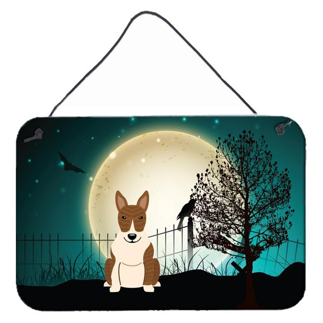 Carolines Treasures BB2327DS812 Halloween Scary Bull Terrier Brindle Wall or Door Hanging Prints - image 1 of 1