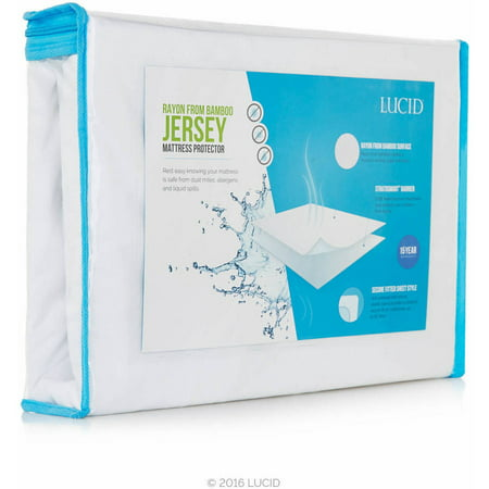 Waterproof Fitted Mattress Protector - Lucid Rayon from Bamboo Jersey Waterproof Mattress Protector