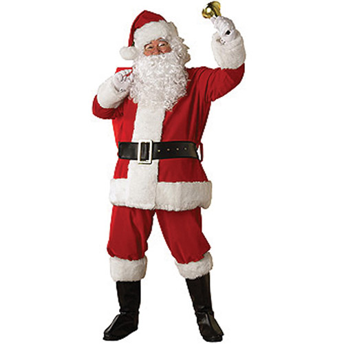 Santa Plush Regency Suit Adult Costume - One Size