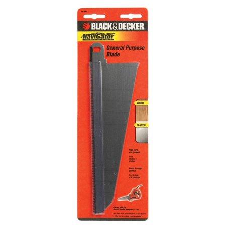 - Black and Decker  NaviGator  8 in. L x 3 in. W Bi-Metal  Blade  10 TPI 1 pk