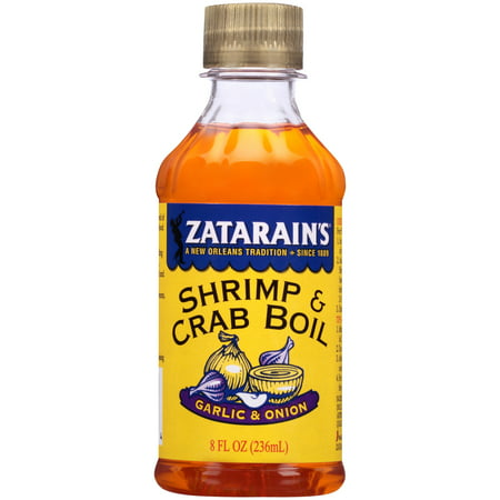 (3 Pack) Zatarain's New Orleans Style Liquid Crab Boil With Garlic & Onion, 8