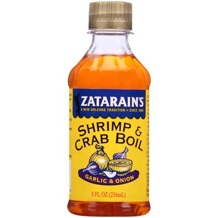 New Orleans Style Shrimp ((3 Pack) Zatarain's New Orleans Style Liquid Crab Boil With Garlic & Onion, 8 oz )