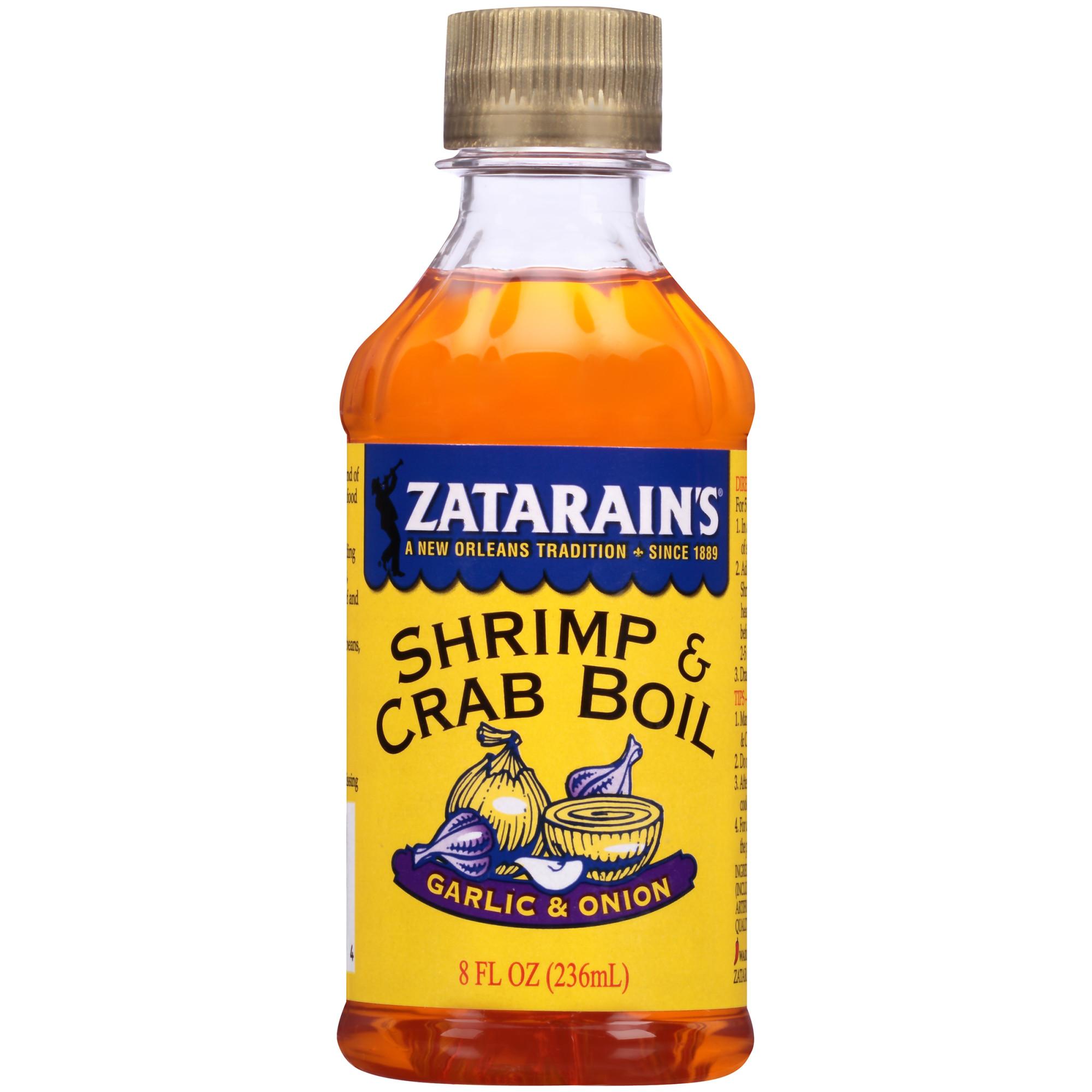 (3 Pack) Zatarain's New Orleans Style Liquid Crab Boil With Garlic & Onion, 8 oz