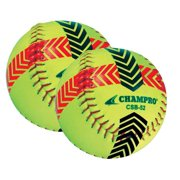 CHAMPRO SPORTS Striped Training Softball Set of 2 Balls Yellow CSB52S by Champro Sports