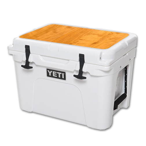 MightySkins Protective Vinyl Skin Decal for YETI Tundra 35 qt Cooler Lid wrap cover sticker skins Birch Wood Grain