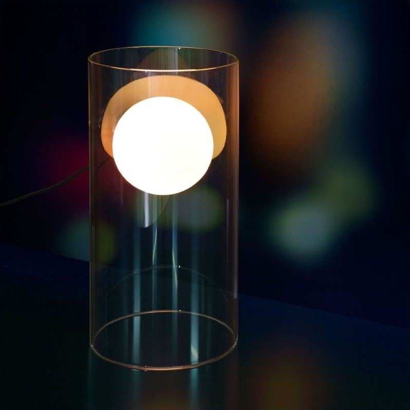 Zuo Eruption Table Lamp in Clear