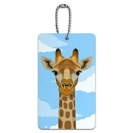 Safari Luggage Tag (Graphics and More Giraffe in Sky - Safari Animal ID Card Luggage)
