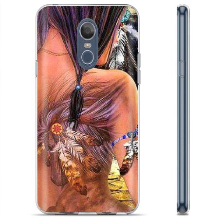 [SkinGuardz] LG LG Stylo 4 / Q Stylus [Clear] Slim Impact Resistant Armor Cover Case [Tattoo Native Print]