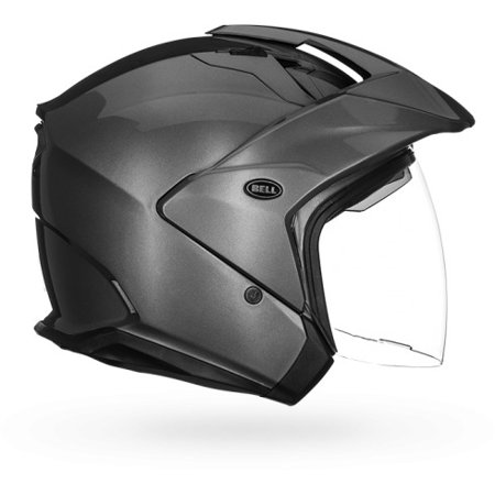 Bell Motorcycle Helmet >> Bell Mag 9 Open Face Motorcycle Helmet Solid Gloss Titanium X Small Solid Titanium