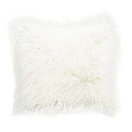 Soft Fluffy Fur Solid Color Square Home Decor Throw Pillow Case Cushion Cover 45*45cm/ 18