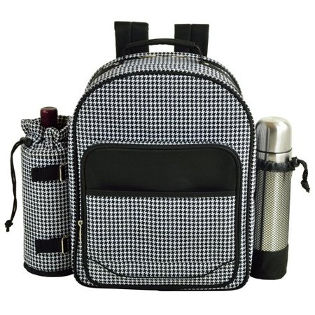 Picnic At Ascot Houndstooth Coffee Backpack Picnic
