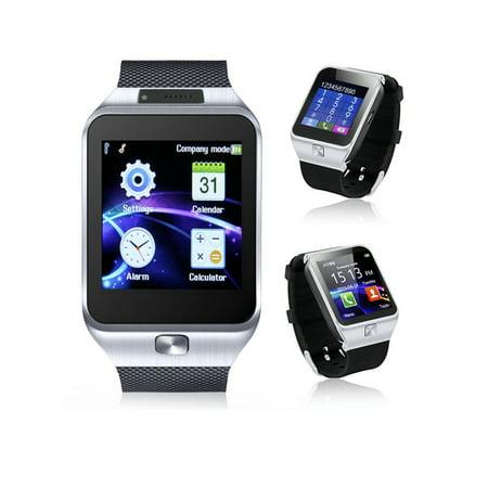 Indigi® Universal Bluetooth Sync (iOS & Android) SmartWatch + Phone w/ Optional SIM + Pedometer + Camera + SMS