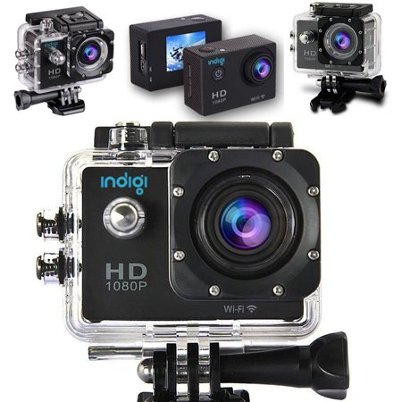Indigi® 1080p Full HD WiFi Action Sports Camera Video Recording for Outdoor Sports/ Activities - image 1 de 4
