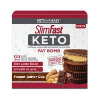 SlimFast Keto Fat Bomb Snacks, Peanut Butter Cups, 0.6 Oz, 14 Count
