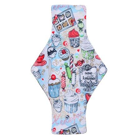 Ejoyous 10 Types Reusable Washable Bamboo Charcoal Fiber Cloth Menstrual Sanitary Mama Pad Panty Liner , Cloth Menstrual Pad, Bamboo Charcoal Pad - image 4 of 7