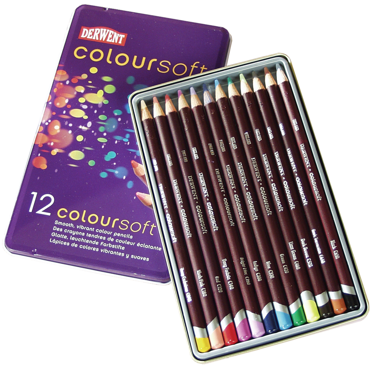 Art Alternatives Derwent Coloursoft Pencils 12/Pkg-