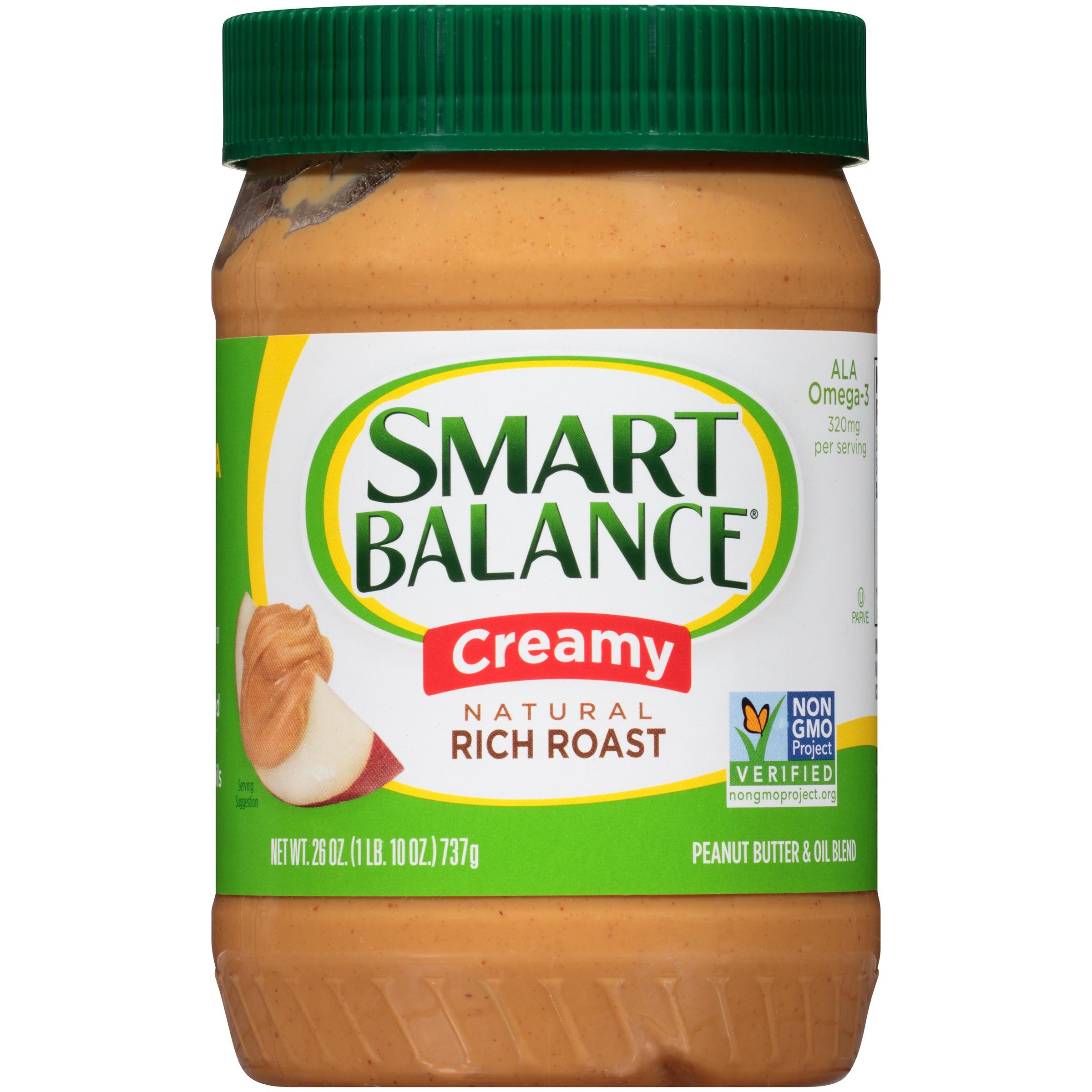 Smart Balance® Creamy Natural Rich Roast Peanut Butter 26 oz. Jar