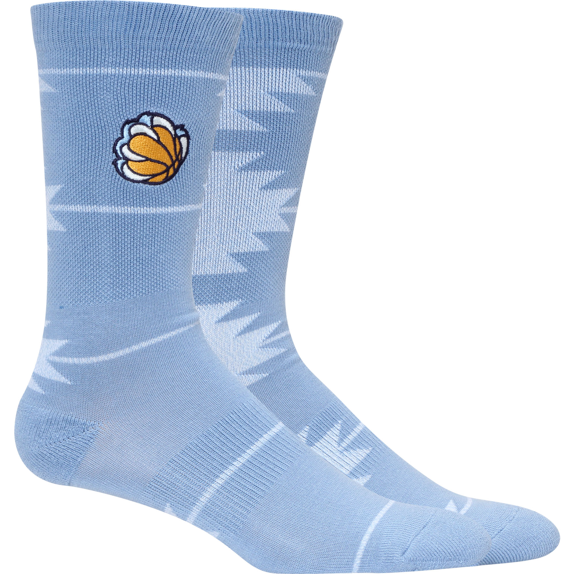 Memphis Grizzlies Geo Crew Socks - L